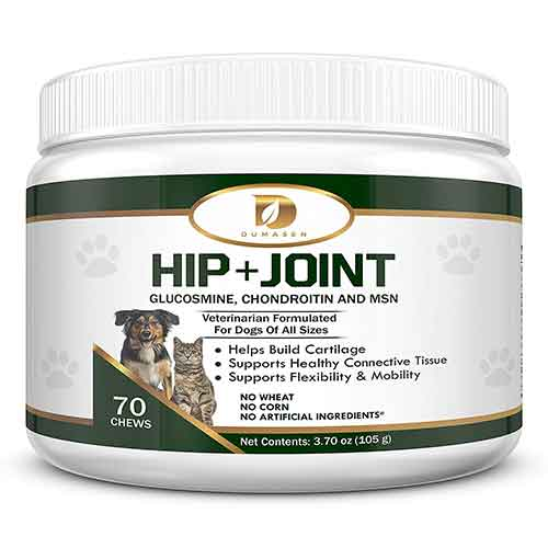 Best Joint Supplements for Dogs with Hip Dysplasia 6. Dumasen Pets: Best Glucosamine for Cats and Dogs, Safe Arthritis Pain Relief, All Natural Hip & Joint Supplement