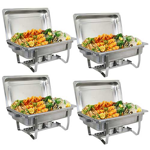 7. ZenChef Upgraded 8 Qt Stainless Steel Chafer