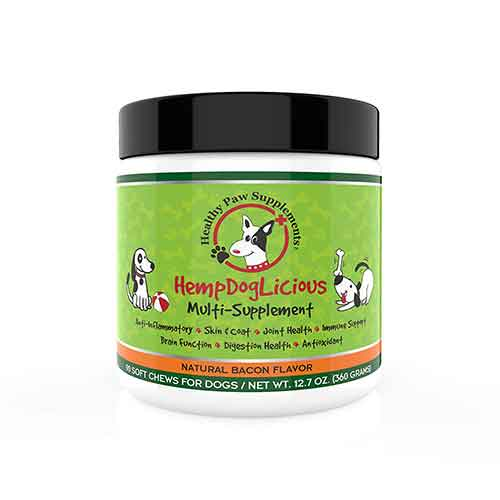 Best Joint Supplements for Dogs with Hip Dysplasia 7. HempDogLicious Dog Joint Supplement Chews - Bacon Flavor Dog Joint Supplement