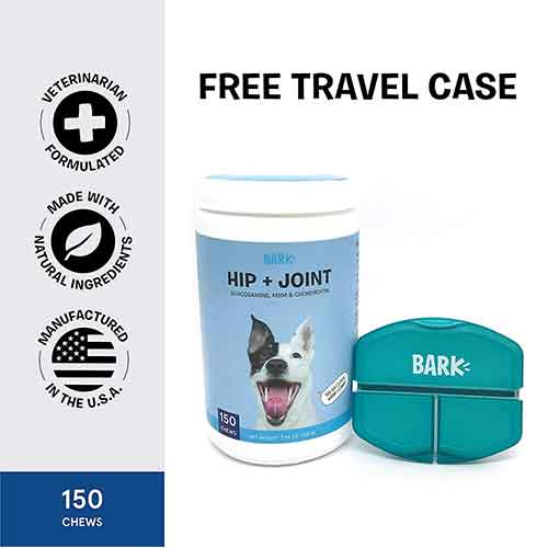 Best Joint Supplements for Dogs with Hip Dysplasia 5. BarkBox Veterinarian-Formulated Dog Glucosamine Supplement for Hip & Joints
