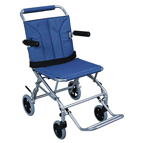 10. Drive Medical Super Light, Folding Transport Chair with Carry Bag, Blue