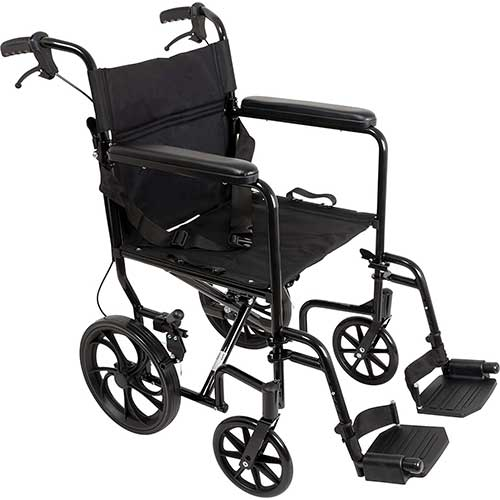 5. ProBasics Aluminum Transport Wheelchair With 19 Inch Seat - Foldable Wheel Chair