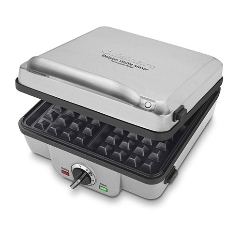 2. Cuisinart WAF-300 Belgian Waffle Maker with Pancake Plates