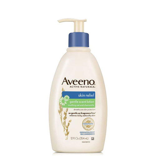 2. Aveeno Skin Relief Gentle Scent Moisturizing Lotion for Sensitive & Extra-Dry Itchy Skin, 12 fl. oz