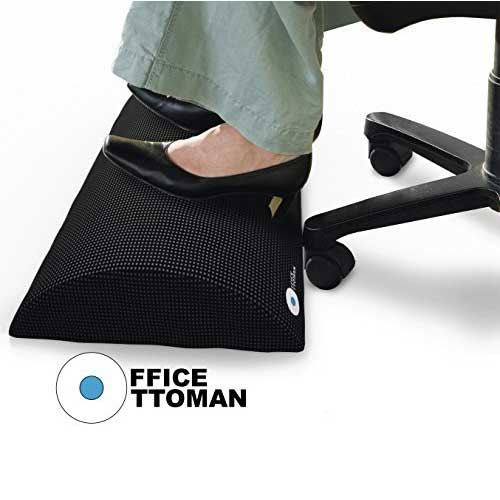 Best Under Desk Footrests 8. Foot Rest Under Desk Non-Slip Ergonomic Footrest Foam Cushion by Office Ottoman