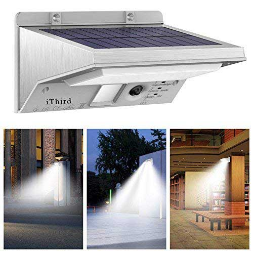 7. Solar Lights Outdoor Motion Sensor, iThird 21 LED 330LM