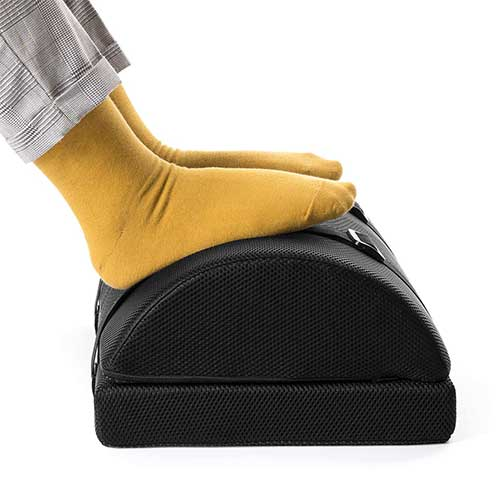 Best Under Desk Footrests 10. Nekmit Adjustable Foot Rest Non-Slip Ergonomic Multifunctional Firm Foam Half-Cylinder