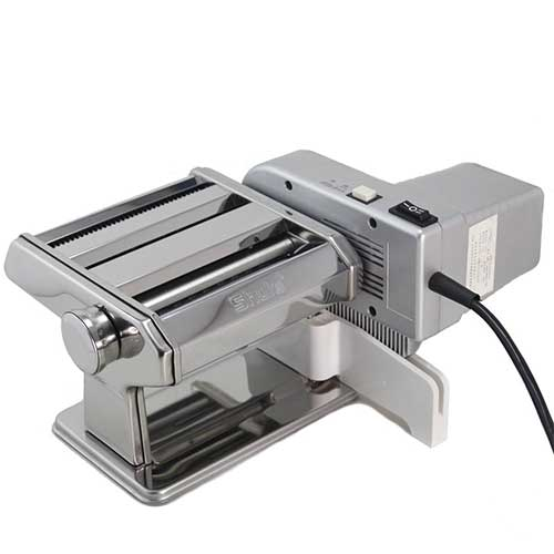Best Electric Pasta Makers 2. Shule Electric Pasta Maker Machine with Motor Set Stainless Steel Pasta Roller Machine Silver