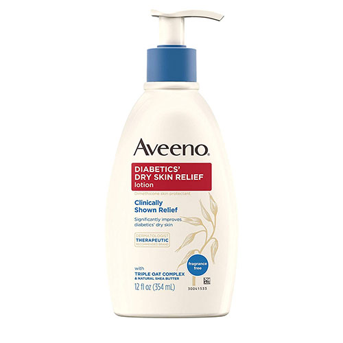 7. Aveeno Diabetics' Dry Skin Relief Lotion with Triple Oat Complex & Natural Shea Butter