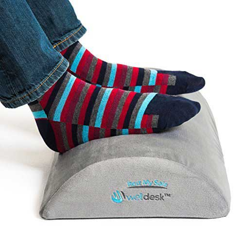 Best Under Desk Footrests 2. Rest My Sole - Foot Rest Cushion for Under Desk - Ergonomic Footrest