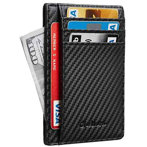 10. Chelmon Slim Wallet RFID Front Pocket Wallet Minimalist Secure Thin Credit Card Holder