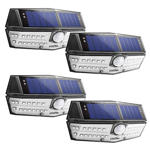3. LITOM Premium 30 LED Solar Lights