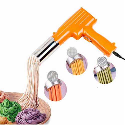 Best Electric Pasta Makers 3. Pasta Maker Handheld Automatic Noddle Maker Press Vegetables Juice