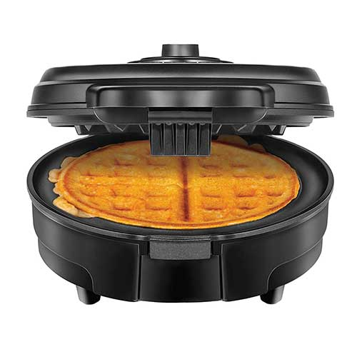 6. Chefman Anti-Overflow Belgian Waffle Maker, Cool Touch Handle, Measuring Cup Included, Black