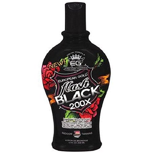 10. European Gold Flash Black 200x Ever Indoor Tanning Lotion, 12 fl oz by Creative Labs