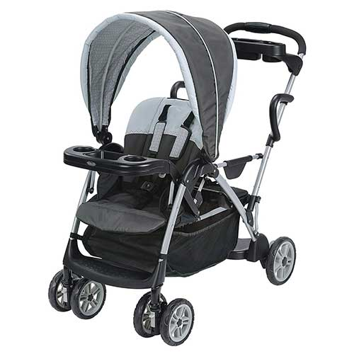 1. Graco Roomfor2 Click Connect Stand and Ride Stroller, Gotham