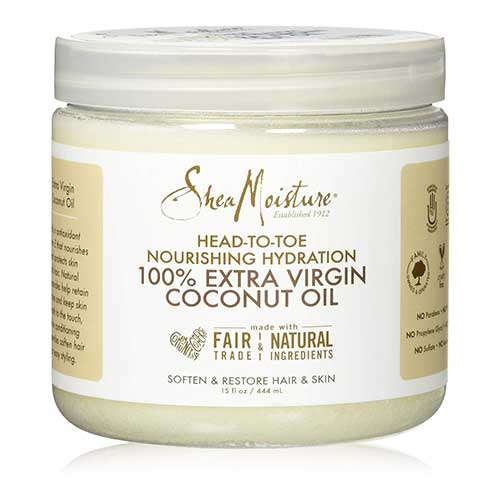 Best Coconut Oil Brands for Hair Growth 6. SheaMoisture 15 oz 100% Extra Virgin Coconut Oil