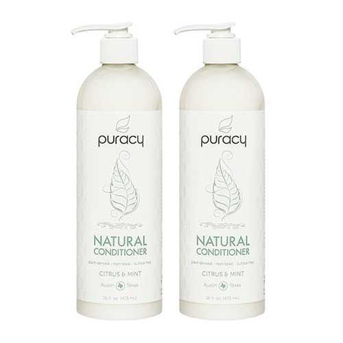 Best Hair Conditioners for Men 9. Puracy Natural Conditioner (2-Pack), Hypoallergenic, Silicone-Free, Nontoxic, All Hair Types, 16 Ounce