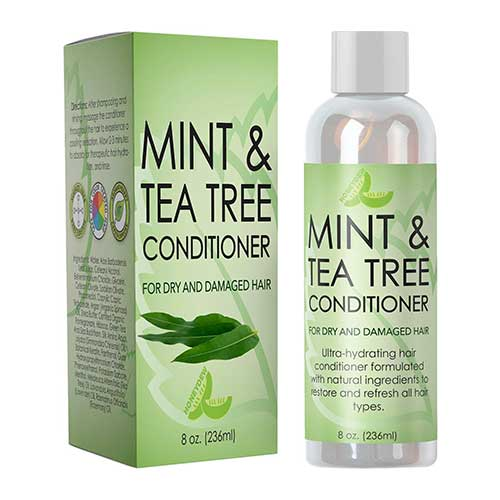 Best Hair Conditioners for Men 8. Hydrating Conditioner Mint & Tea Tree Oil For Dry and Damaged Hair With Nutrient Rich Jojoba Tea Tree Lavender by Honeydew