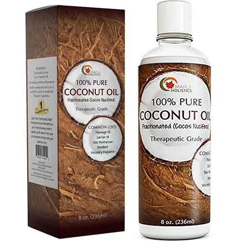 Best Coconut Oil Brands for Hair Growth 4. Coconut Oil for Fractionated Hair Growth and Skin - Natural Massage Oil - Anti-Aging Skin Moisturizer by Maple Holistics