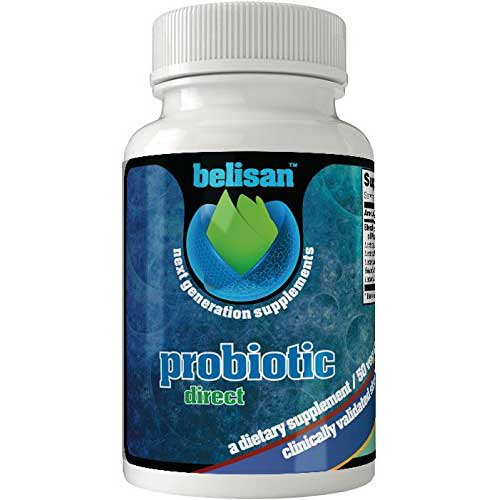 7. Vegan Diet Probiotic Supplement For Men & Women By Belisan - 25 Billion CFU & 10 Bacterial Strains