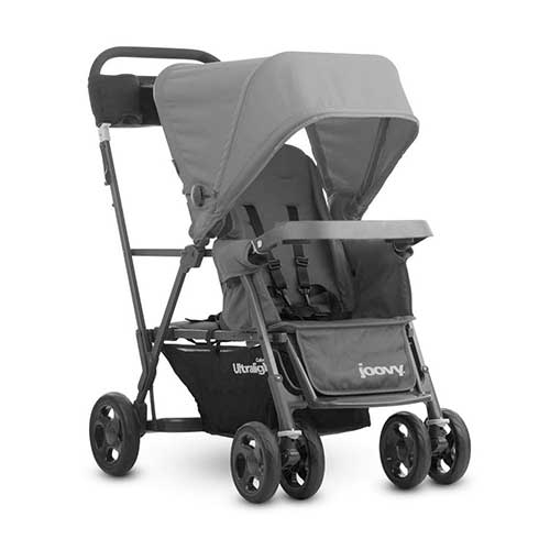 7. JOOVY Caboose Ultralight Graphite Stroller, Gray