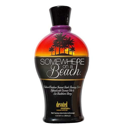 7. Somewhere on a Beach, Indoor Outdoor, Instant Dark Tanning Lotion 12.25 Ounce by Devoted Creations