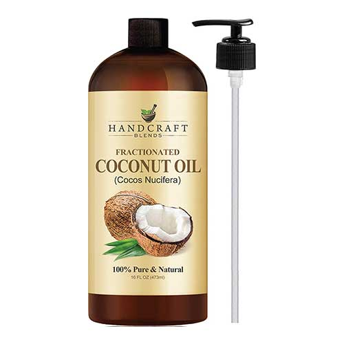 Best Coconut Oil Brands for Hair Growth 3. Fractionated Coconut Oil – 100% Pure & Natural Premium Therapeutic Grade – Huge 16 OZ - Coconut Carrier Oil by Handcraft Blends