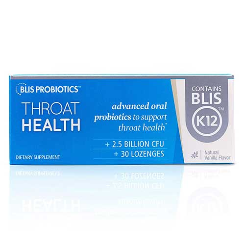 6. BLIS ThroatHealth Oral Probiotic, Most Potent BLIS K12 Formula Available, 2.5 Billion CFU, Throat
