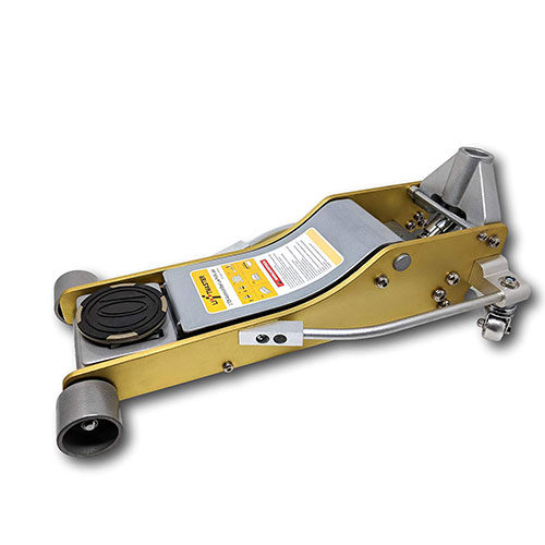 2. Liftmaster 3 Ton Aluminum and Steel Low Profile High Lift Floor Jack (Gold)