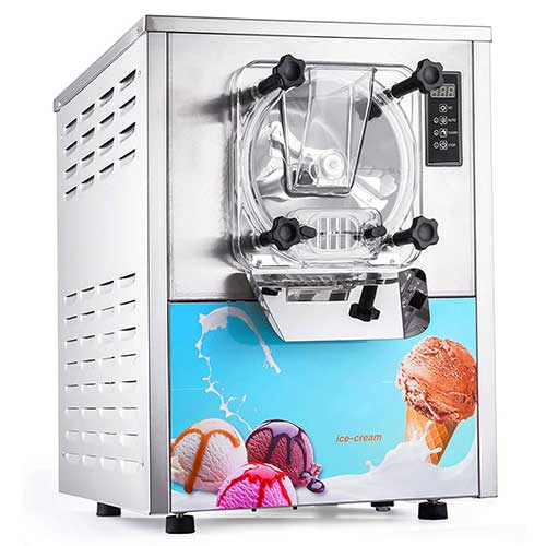 Best Commercial Ice Cream Makers 8. VEVOR 1400W Commercial Ice Cream Machine 5.3Gallon per Hour Hard Serve LED Display Auto Shut-Off Timer Perfect for Restaurants Snack Bar Supermarkets, Sliver