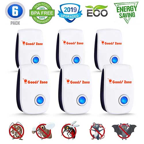 Best Electronic Insect Repellents 2. Pest Control Ultrasonic Repellent 2019, Pest Reject Repeller Plug in, Best 6 Pack Indoor Electronic Repellers for Mosquito, Rodent, Mice, Rat, Insect, Cockroach, Ant, Spider, Вed Bugs