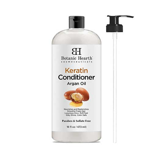 Best Hair Conditioners for Men 6. Keratin Conditioner with Argan Oil by Botanic Hearth