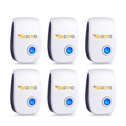 Best Electronic Insect Repellents 4. GADINO Ultrasonic Pest Repellent - Electronic Pest Control - Best Indoor Ultrasonic Pest Repeller - Mice, Bugs, Ants, Insects and Cockroaches Repellent - Ultrasonic Pest Reject 2019