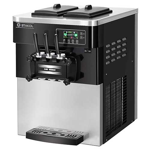 Best Commercial Ice Cream Makers 10. COSTWAY Commercial Ice Cream Machine, Automatic 2200W 20-28L/5.3-7.4Gallon Per Hour Soft & Hard Serve Ice Cream Maker with LCD Display Screen, Auto Shut-Off Timer, 3 Flavors (Sliver+Black)