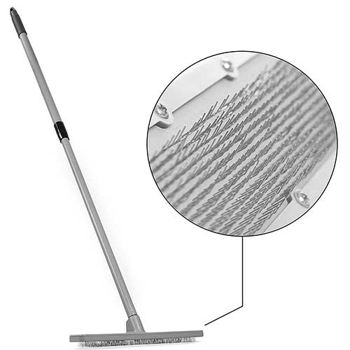 Best Brooms for Dog Hair 6. Quality Line Universal Carpet Rake | Effective & Safe Pet Hair Removal | Features a 4 Ft Extendable Pole