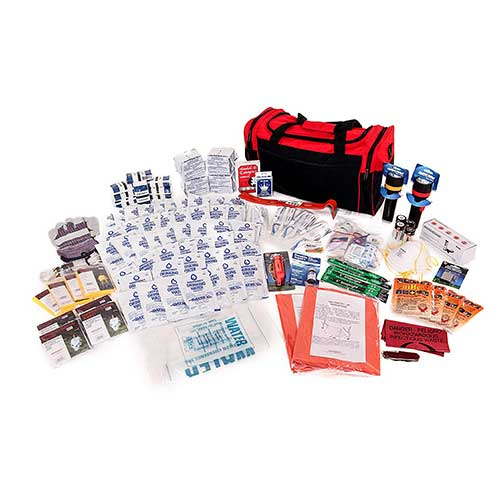 9. 4 Person Survival Kit Deluxe 72-Hour Kits for Home, Work, or Auto by Survival Prep Warehouse