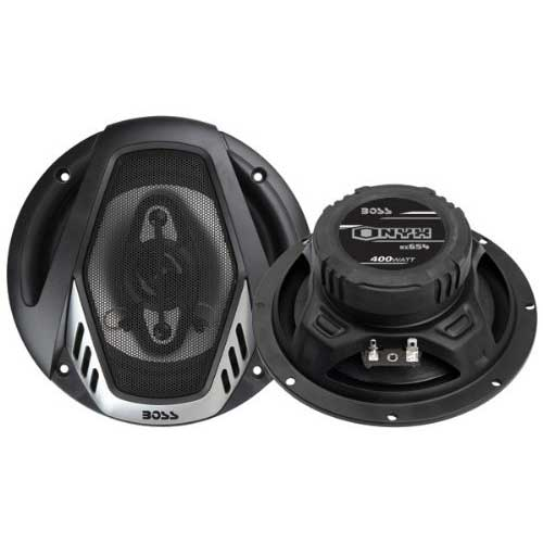 Best 6.5 Car Speakers for Bass 10. BOSS Audio NX654 Car Speakers - 400 Watts Of Power Per Pair, 200 Watts Each, 6.5 Inch