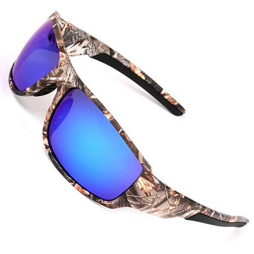 Best Polarized Sunglasses Brands 6. MOTELAN Polarized Outdoor Sports Sunglasses Tr90 Camo Frame for Men Women Driving Fishing Hunting Reduce Glare