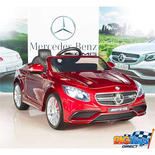 5. BIG TOYS DIRECT Mercedes-Benz S63 Ride on Car Kids RC Car , Red