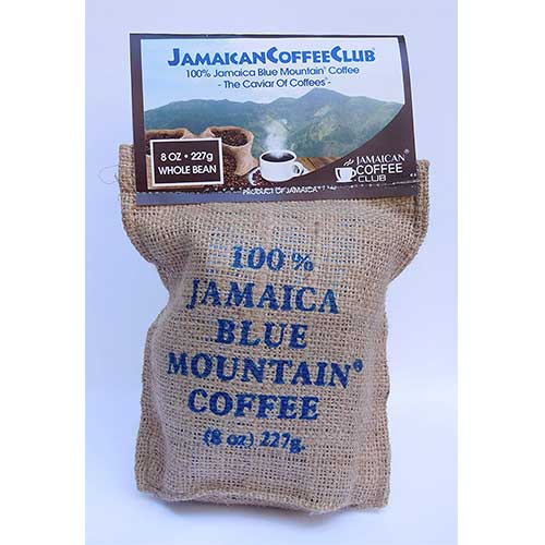 7. 100% 8oz. Whole Bean certified Jamaican Blue Mountain Coffee by JamaicanCoffeeClub