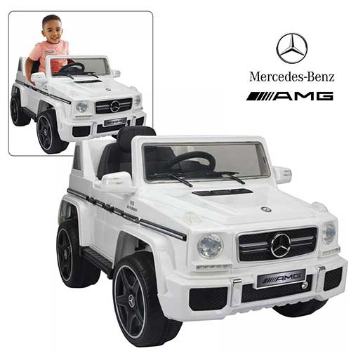 10. Official Licensed Mercedes Benz Ride On Car with Remote Control for Kids | AMG G63 White