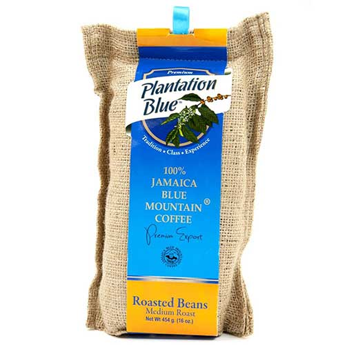 Best Jamaican Blue Mountain Coffee Beans 6. PLANTATION BLUE Jamaica Blue Mountain Coffee 100% Fresh Blue Mountain Coffee Medium Roasted Whole Beans - 16oz (1lb)
