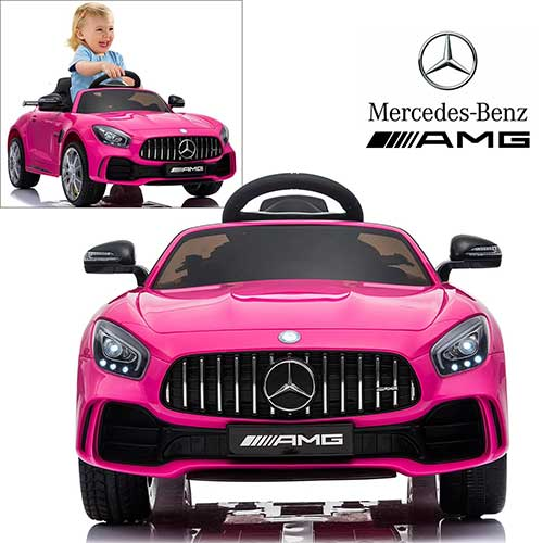 2. Licensed Mercedes Benz AMG GTR Coupe Electric Ride On Car- Pink
