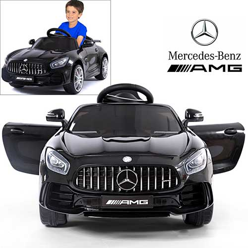 7. Licensed Mercedes Benz AMG GTR Coupe Electric Ride On Car with 12V 2 Motors – Black