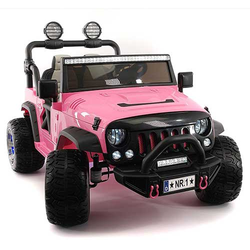 3. Moderno Kids Explorer 2 (Two) Seater 12V Power Children Ride-On Car Truck (Pink)