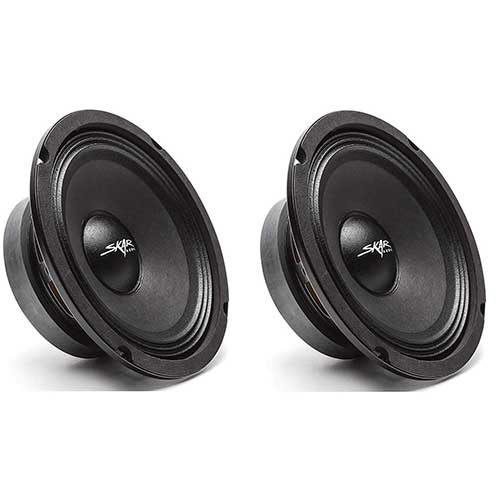 Best 6.5 Car Speakers for Bass 8. (2) Skar Audio FSX65-4 300-Watt 6.5-Inch 4 Ohm Mid-Range Loudspeakers - 2 Speakers