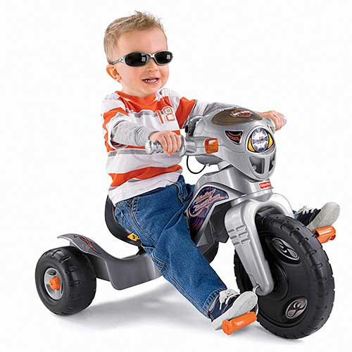 8. Fisher-Price Harley-Davidson Lights & Sounds Trike