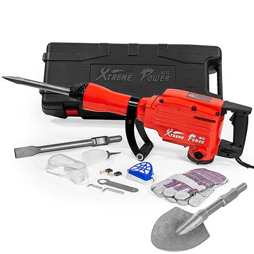 Best Demolition Hammers for Tile Removal 3. XtremepowerUS Heavy Duty Electric Demolition Jack Hammer, Concrete Breaker (2200Watt w/shovel)