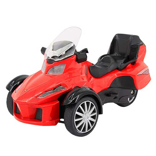 7. Multifit Kids 1:16 Die Cast Pullback 3 Wheel Motorcycle Toddler Music Lighting ATV Bicycle Gift Car